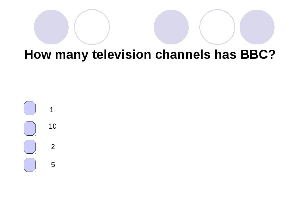 How many television channels has BBC? 1 10 2 5