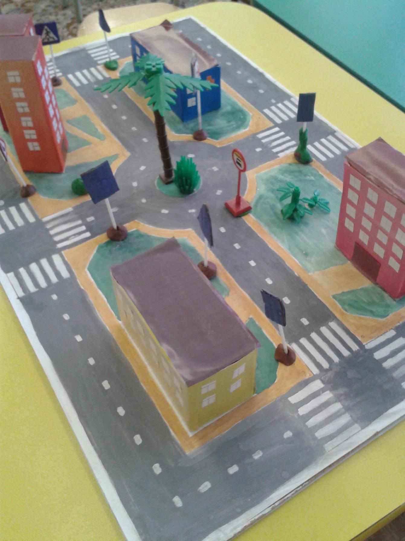 Макет перекрестка для детского сада пошагово