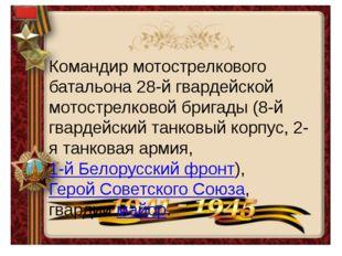 Командир мотострелкового батальона 28-й гвардейской мотострелковой бригады (8
