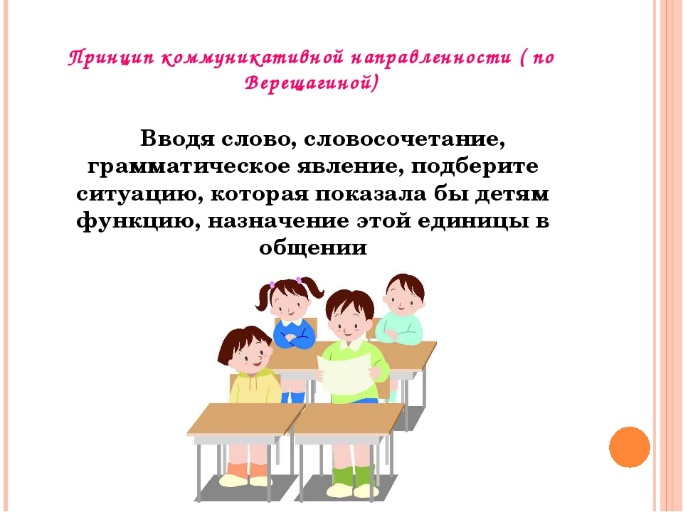 Принцип коммуникативной направленности ( по Верещагиной) Вводя слово, словосо...