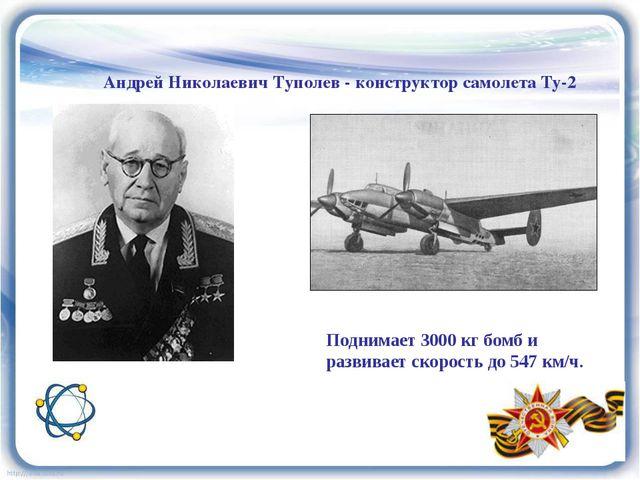 Андрей Николаевич Туполев - конструктор самолета Ту-2 Поднимает 3000 кг бомб...