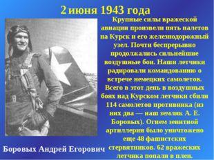 Боровых Андрей Егорович 2 июня 1943 года Крупные силы вражеской авиации произ