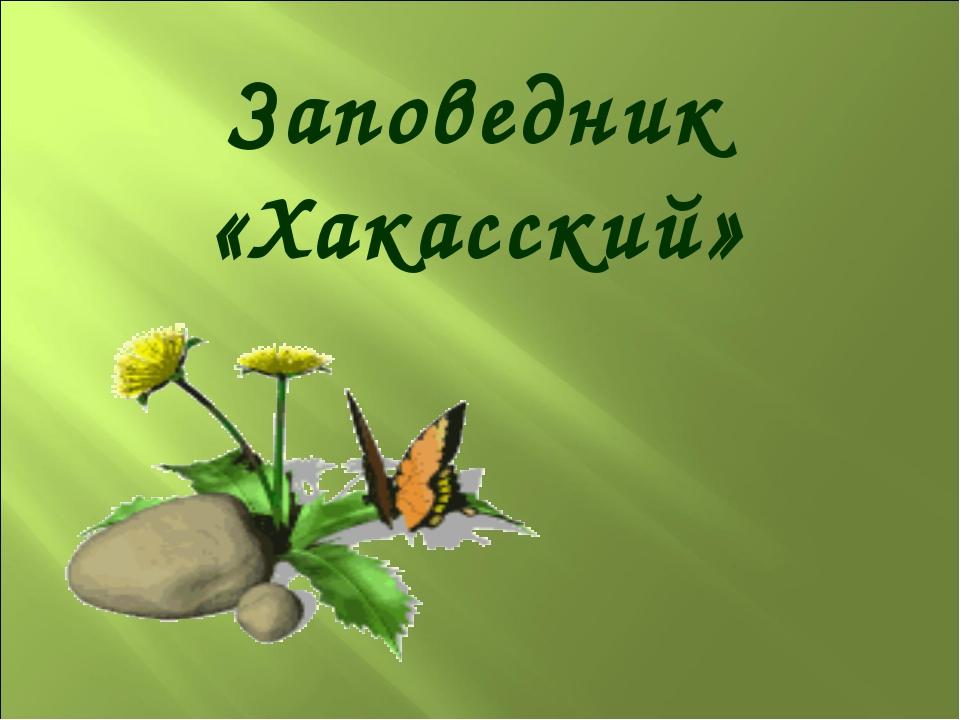 Заповедник «Хакасский»