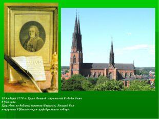 10 января 1778 г. Карл Линней скончался в своём доме в Уппсале. Как один из