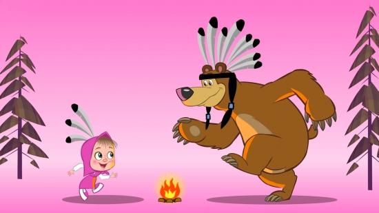 Маша и медведь индейцы