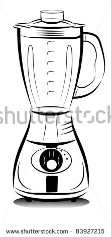 http://thumb1.shutterstock.com/display_pic_with_logo/97397/97397,1315049101,4/stock-vector-drawing-black-and-white-kitchen-blender-vector-illustration-83927215.jpg