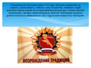 Обязательные испытания нового ГТО будут включать нормативы на скорость, вынос