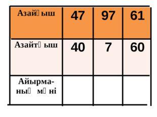 Азайғыш479761 Азайтқыш40760 Айырма-ның мәні