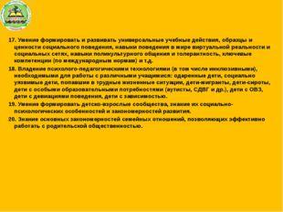 17. Умение формировать и развивать универсальные учебные действия, образцы и