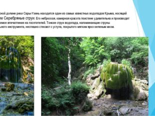 Вживописной долине реки Сары-Узень находится один из самых известных водопад