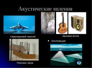 Акустические явления Эхолокация Сверхзвуковой самолет Звуковая волна Резонанс