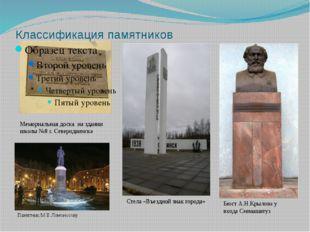 Классификация памятников Мемориальная доска на здании школы №8 г. Северодвинс