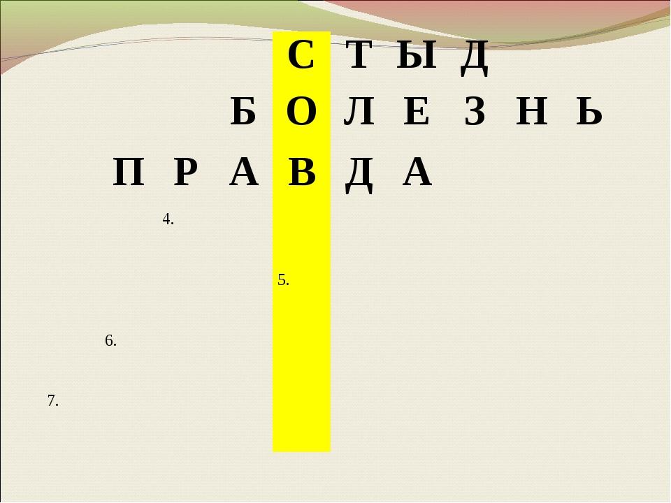 СТЫД БОЛЕЗНЬ ПРАВДА 4. 5. 6. 7....