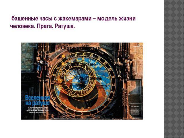 башенные часы с жакемарами – модель жизни человека. Прага. Ратуша.