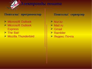 Электронды пошта Пошталық программалар Microsoft Outlook Microsoft Outlook Ex