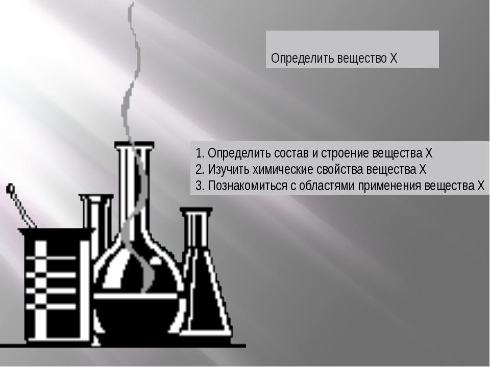 Определить вещество Х 1. Определить состав и строение вещества Х 2. Изучить х...