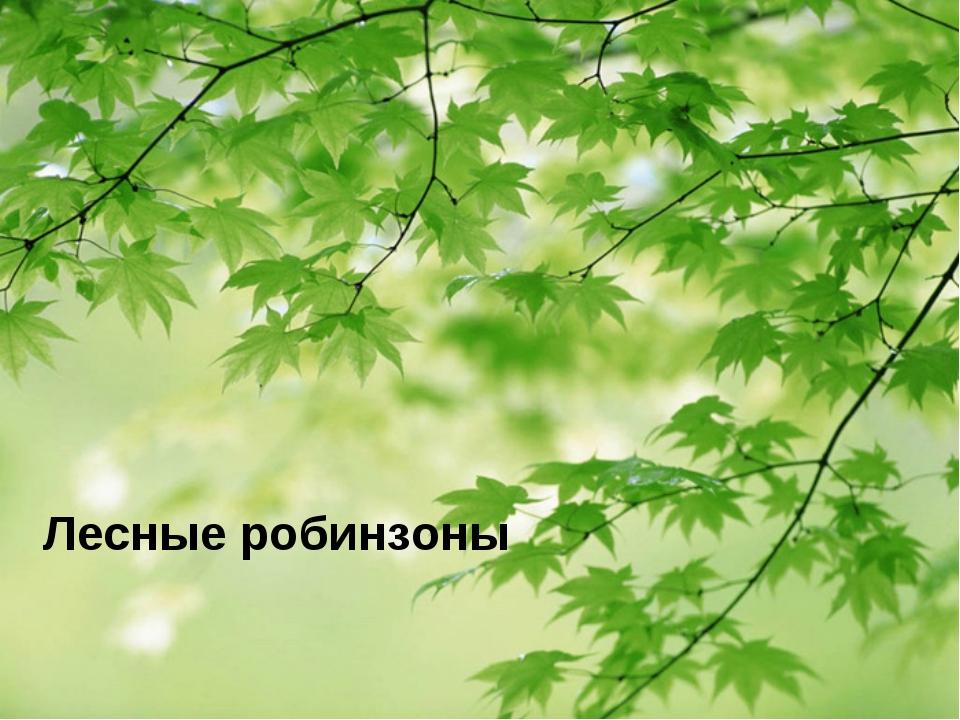 Лесные робинзоны