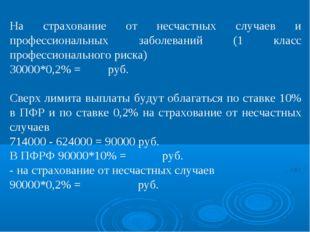 На страхование от несчастных случаев и профессиональных заболеваний (1 класс