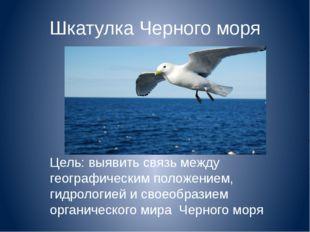 Шкатулка Черного моря Цель: выявить связь между географическим положением, ги