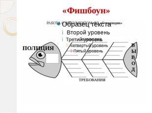 «Фишбоун» ПОЛИЦИЯ ФУНКЦИИ ТРЕБОВАНИЯ В Ы В О Д РАБОТА С ДОКУМЕНТОМ ФЗ «О поли