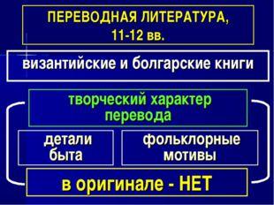 в оригинале - НЕТ ПЕРЕВОДНАЯ ЛИТЕРАТУРА, 11-12 вв. византийские и болгарские