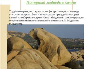 Полярный медведь в камне Трудно поверить, что скульптором фигуры полярного ме