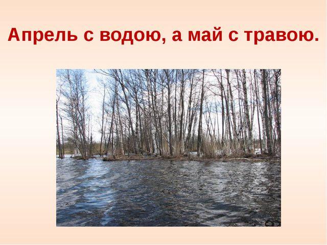 Апрель с водою, а май с травою.