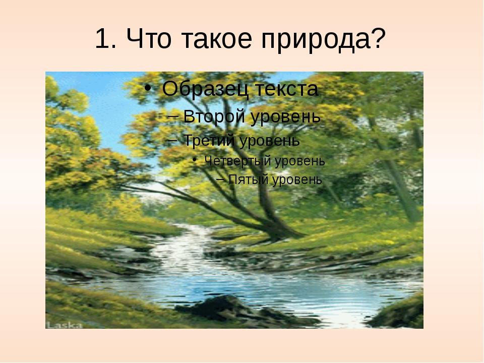 1. Что такое природа?