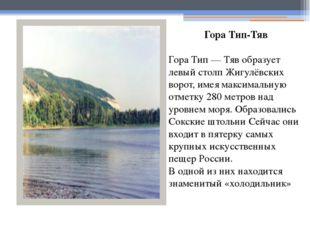 Гора Тип-Тяв Гора Тип — Тяв образует левый столп Жигулёвских ворот, имея макс