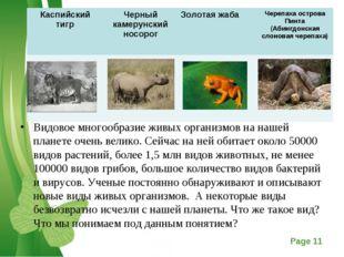 Видовое многообразие живых организмов на нашей планете очень велико. Сейчас н