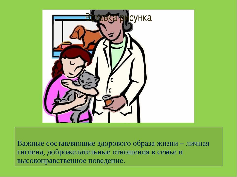 Важные составляющие здорового образа жизни – личная гигиена, доброжелательные...