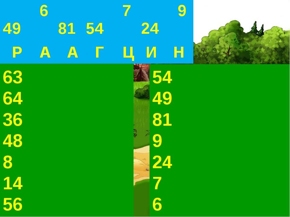 9 х 7 8 х 8 4 ув. в 9 раз 56 ум. на 8 во? раз 48>6 на? 78 во? раз 5