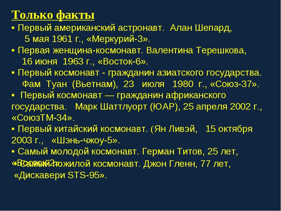 Только факты • Первый американский астронавт. Алан Шепард, 5 мая 1961 г., «Ме...