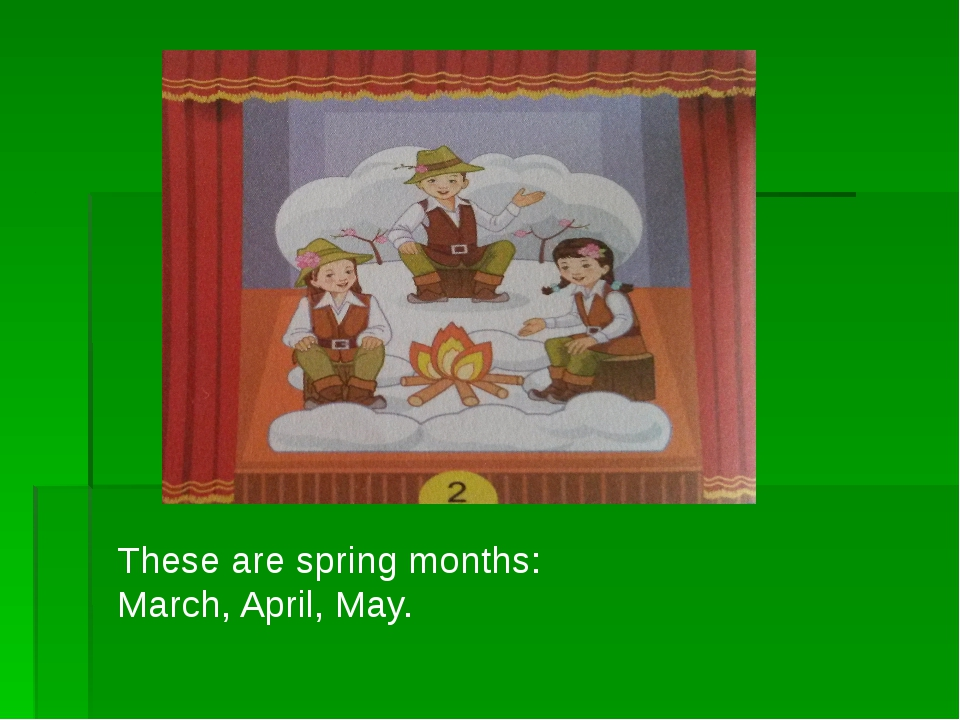These are spring months: March, April, May.