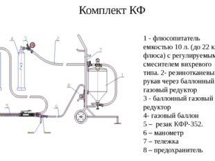 Комплект КФ 1 - флюсопитатель емкостью 10 л. (до 22 кг флюса) с регулируемым