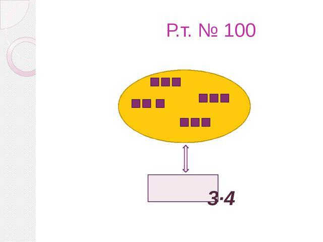 Р.т. № 100 3·4