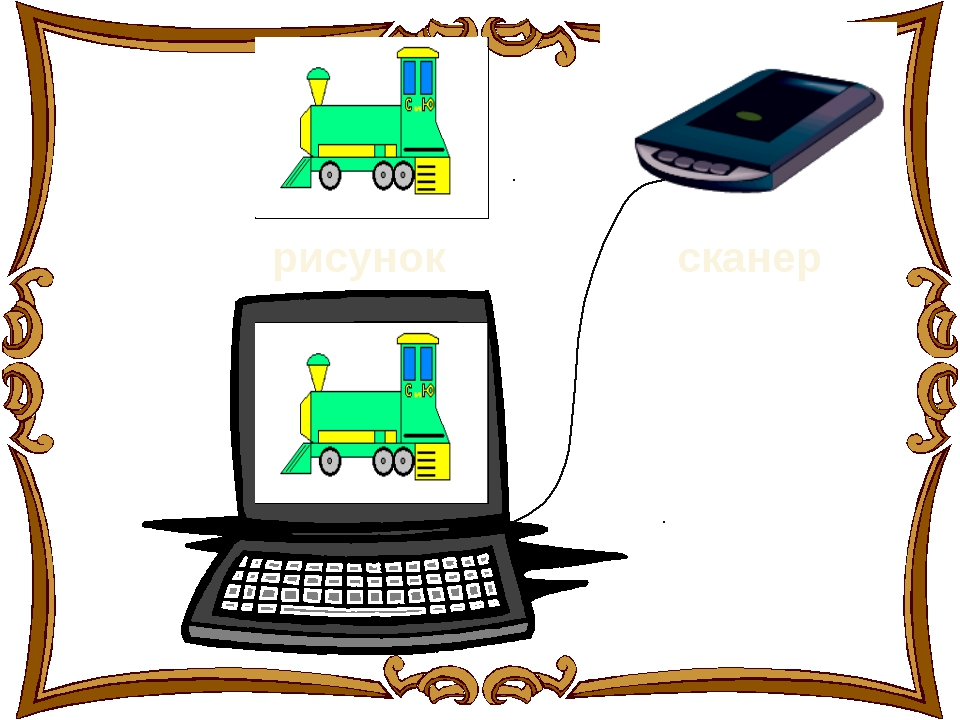 рисунок сканер