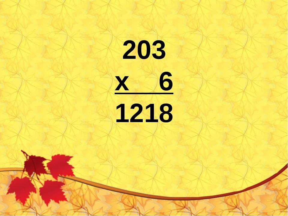 203 х 6 1218