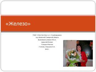 ГБОУ СОШ №1»ОЦ» п.г.т. Стройкерамика м.р. Волжский Самарской области Выполнил