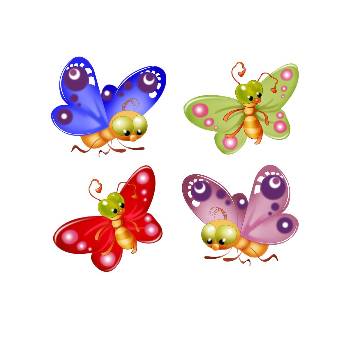 Рисунки бабочки для детей детского сада