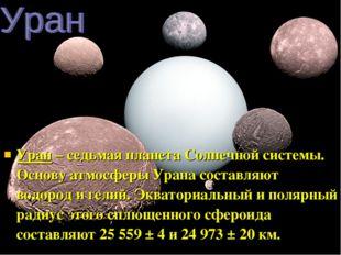 Уран – седьмая планета Солнечной системы. Основу атмосферы Урана составляют в