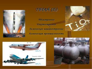 ТИТАН (Ti) Авиастроение Ракетостроение Химическое машиностроение Химическая п