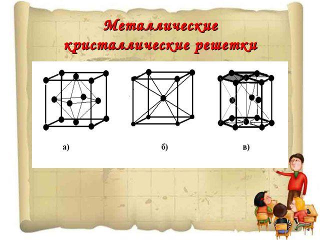 Металлические кристаллические решетки