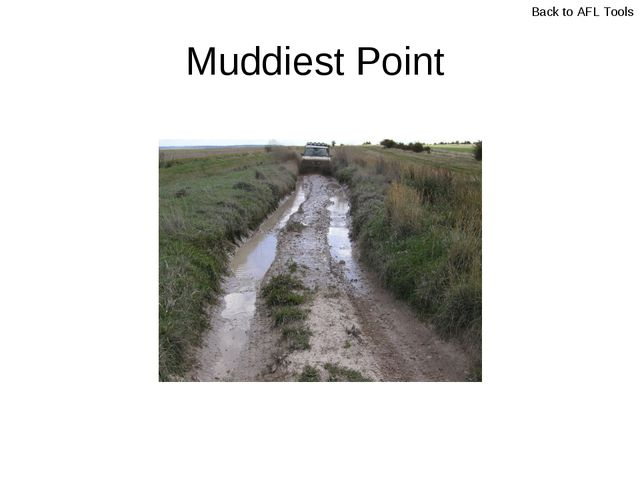 Muddiest Point Back to AFL Tools