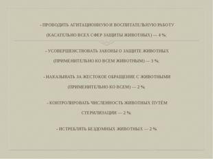 - ПРОВОДИТЬ АГИТАЦИОННУЮ И ВОСПИТАТЕЛЬНУЮ РАБОТУ (КАСАТЕЛЬНО ВСЕХ СФЕР ЗАЩИТ