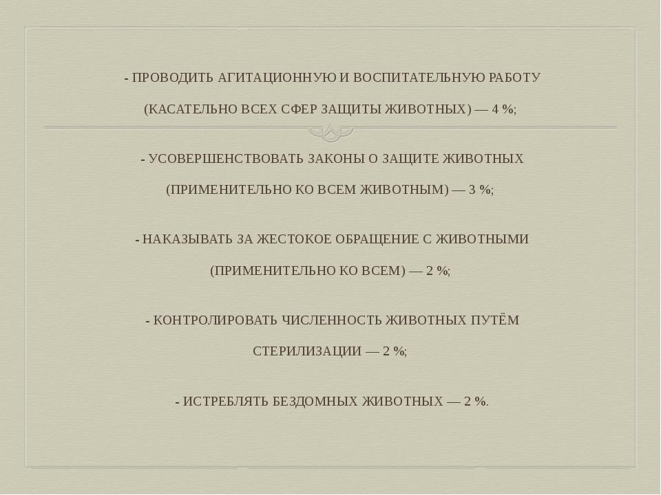 - ПРОВОДИТЬ АГИТАЦИОННУЮ И ВОСПИТАТЕЛЬНУЮ РАБОТУ (КАСАТЕЛЬНО ВСЕХ СФЕР ЗАЩИТ...