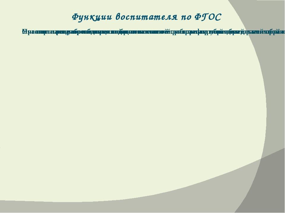 Функции воспитателя по ФГОС