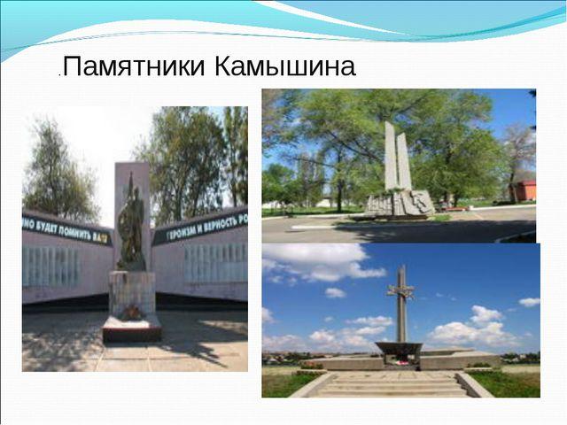 .Памятники Камышина