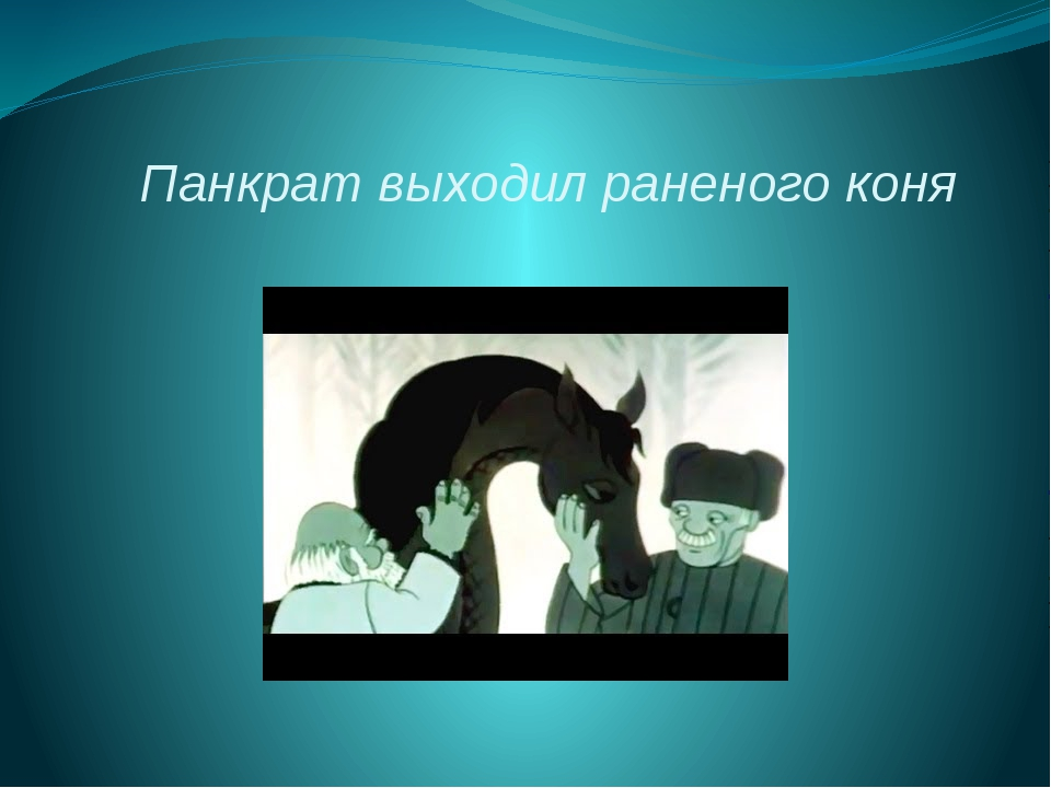 Панкрат выходил раненого коня