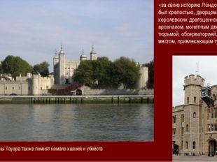 «за свою историю Лондонский Тауэр был крепостью, дворцом, хранилищем королевс